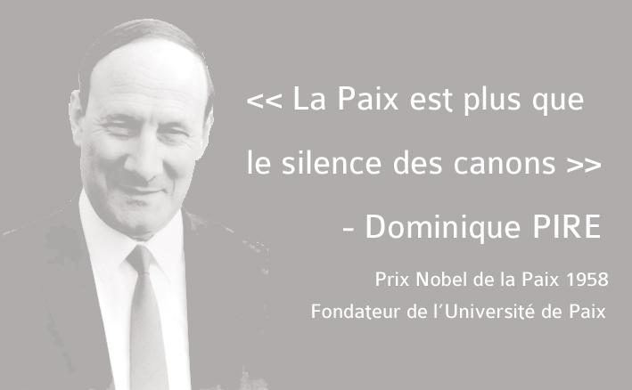 Dominique Pire, Prix Nobel de la Paix 1958