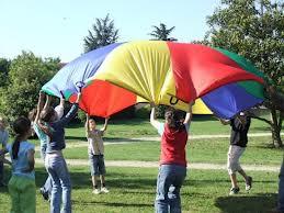Le parachute, jeu de coopération